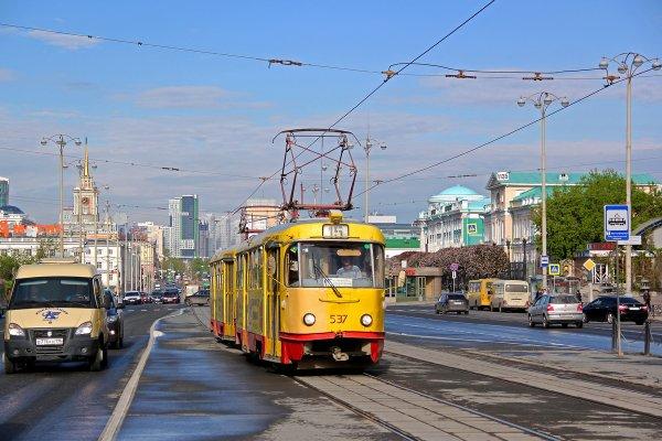 В Сети появилось видео езды трамвая по Екатеринбургу без водителя