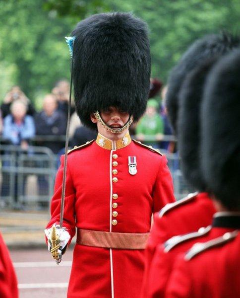 Член королевской гвардии жестоко оттолкнул туристку, зашедшую за ограждение