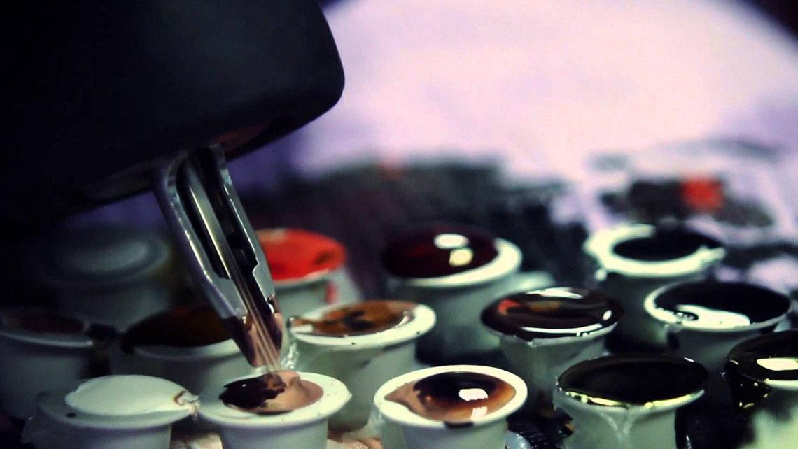 Качественная и яркая краска для татуировок