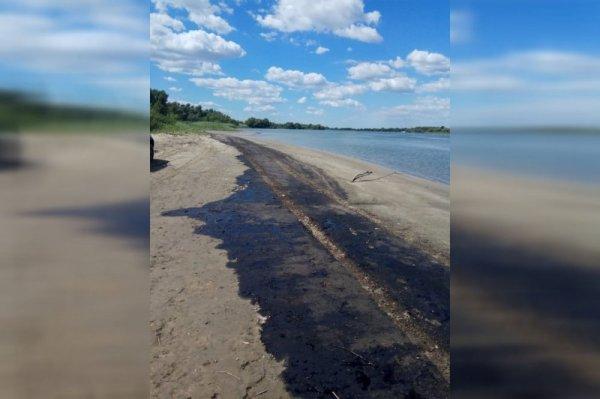 Под Ростовом пляж залило мазутом