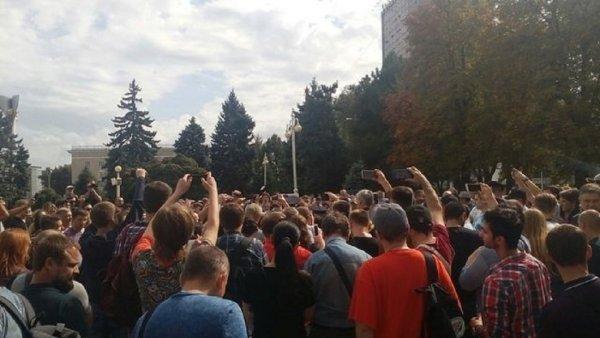 На митинге в Ростове против пенсионной реформы полиция задержала трех человек