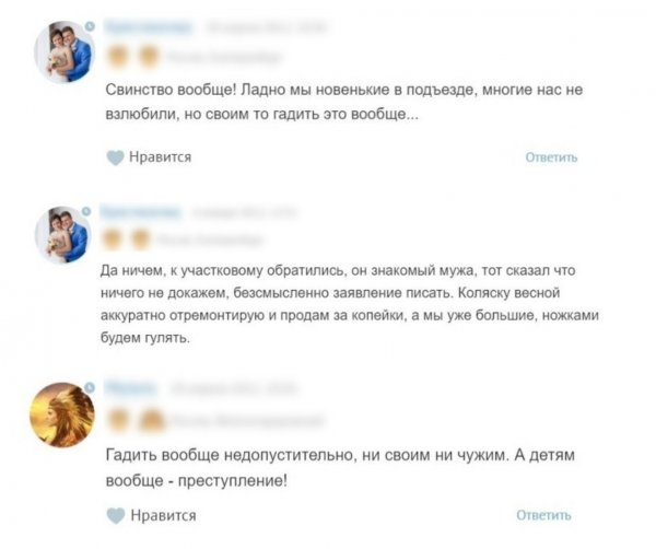 Страшно жить: В Перми из мести к «яжматери» хулиганы изрезали детскую коляску лезвием