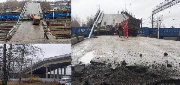 Мост в Амурской области обрушился на главный путь Транссиба