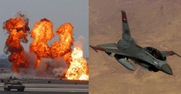 Взрыв на военной базе в Бельгии уничтожил F-16