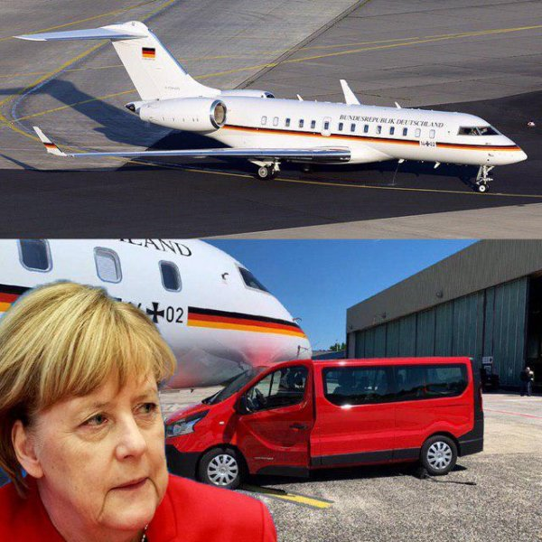 Магия проклятого нацистского имени: самолёт Люфтваффе с Ангелой Меркель на борту опять не взлетел
