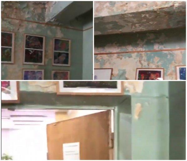Штукатурка на детей валится: Самарцы требуют от губернатора Азарова спасения библиотеки