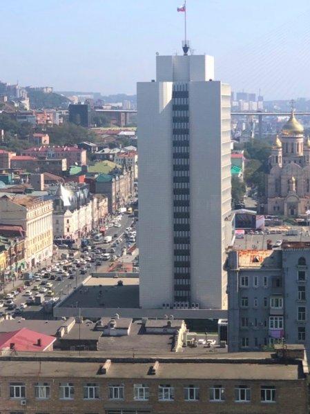 Мужчина несколько раз ударил девушку ножом возле краевой администрации Владивостока