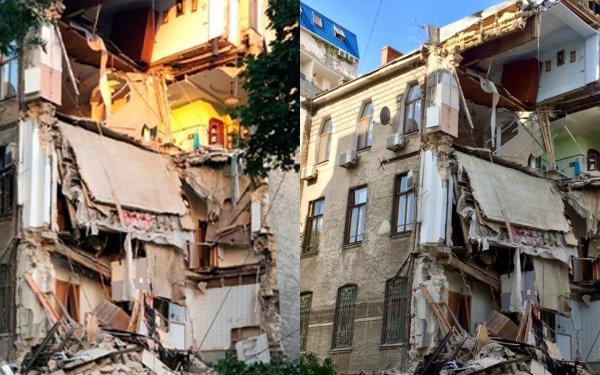 Жители рухнувшего в Одессе дома: «Нам просто повезло»