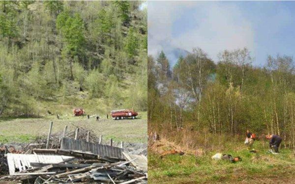 На Камчатке 50 человек борются с лесным пожаром на 20 гектарах